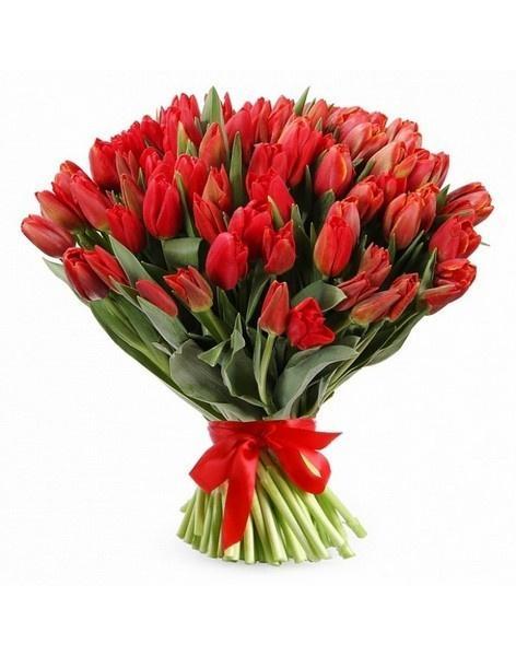 Букеты красный с розовыми тюльпанами #4