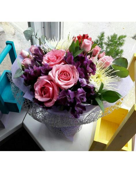Доставка цветов в актобе казахс подарок женщине на 55 лет