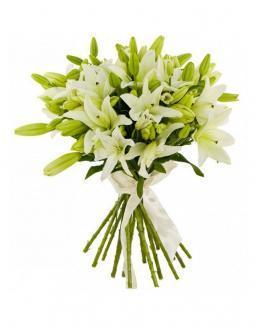 Bouquet of 25 lilies | Carnations,lilies