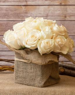 Sweet bouquet  | White roses
