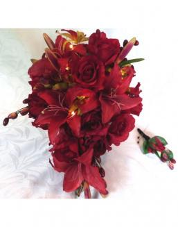 Bouquet of 51 red lilies | Carnations,lilies