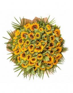 Bouquet of 51 sunflowers | Flowers on Anniversary flowers