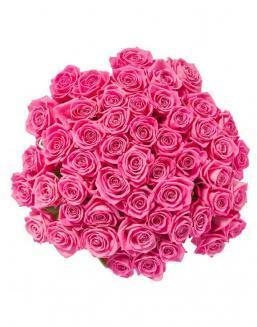 Bouquet of 51 pink roses | Roses flowers