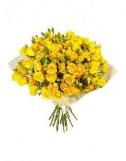 Bouquet of 51 yellow rose bushes | Flowers on Anniversary flowers