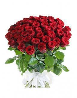 Bouquet of 51 red rose bushes | Roses flowers