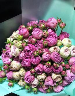 Bouquet of 15 pink spray roses | Pink flowers to mother inexpensive flowers
