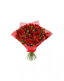 4Bouquet of 15 red spray roses | Roses flowers