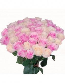 Bouquet of roses: pink and cream | Dutch roses