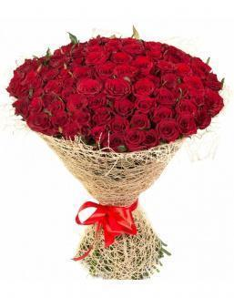 Bouquet of 101 red roses | Dutch roses
