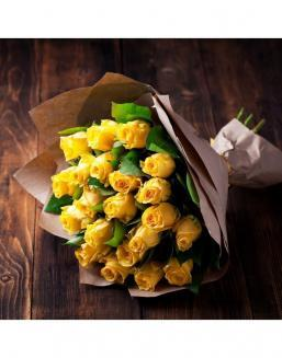 Bouquet of 21 yellow roses | Dutch roses