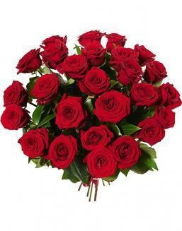 Bouquet of 25 red Dutch roses | Dutch roses