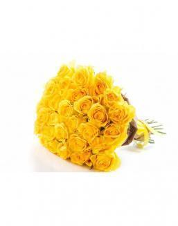 Bouquet of 29 yellow roses | Dutch roses