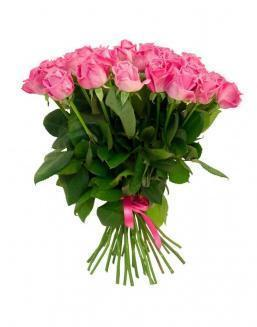 Bouquet of 25 pink holland roses | Flowers on Anniversary flowers