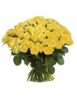 Bouquet of 101 yellow holland roses