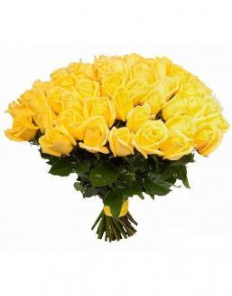 Bouquet of 51 yellow roses | Flowers on Anniversary flowers