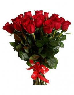 21 long red roses deluxe | Flowers on Anniversary flowers