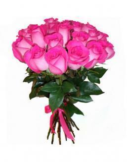 21 high elite pink roses | Flowers on Anniversary flowers