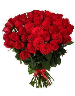 33 long red roses deluxe | Flowers on Anniversary flowers