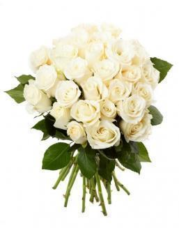Bouquet of 33 white roses | Flowers on Anniversary flowers