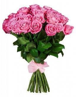 33 high elite pink roses | Flowers on Anniversary flowers