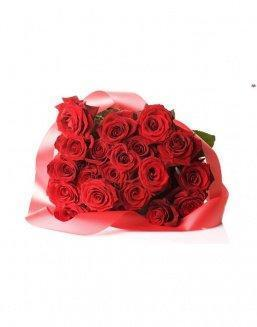 Bouquet of 21 red roses | Flowers on Anniversary flowers
