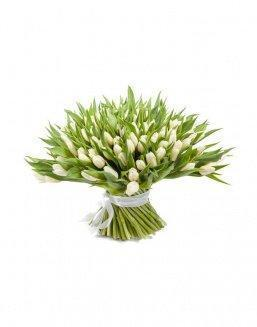 Bouquet 201 white tulips | Flowers on Anniversary flowers